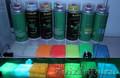 Фотолюминесцентная аэрозольная краска